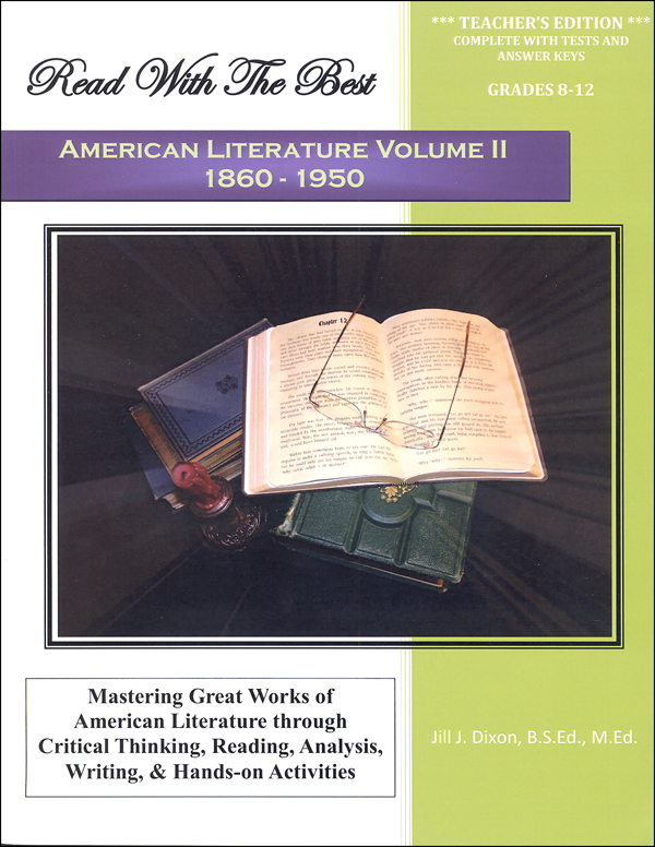 Read with the Best - American Literature Volume II: 1860-1950 Teacher Edition