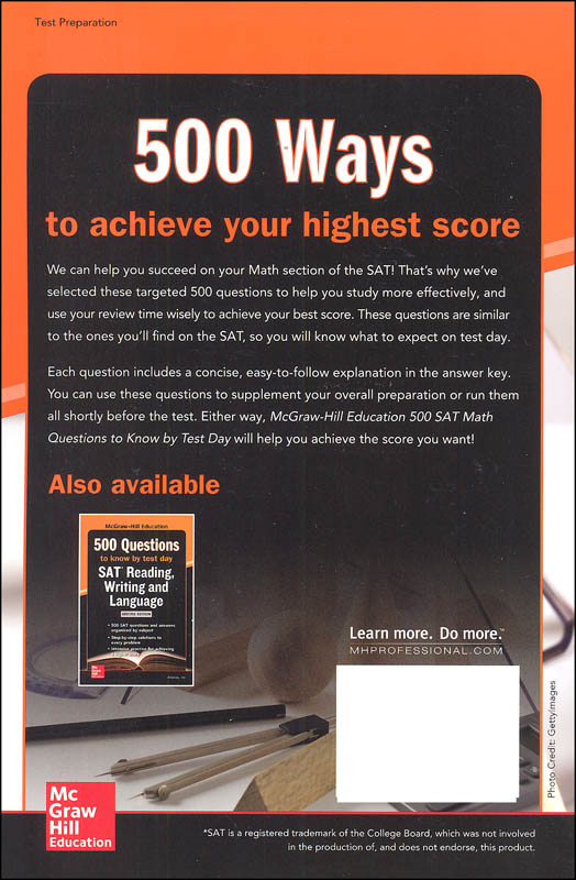 McGraw-Hill's 500 SAT Math Questions to Know by Test Day ...
