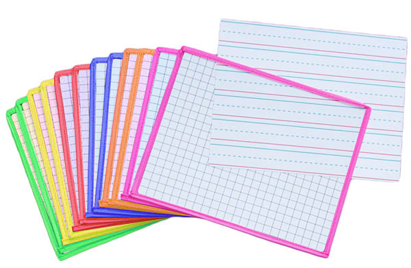 Dry Erase Sleeve with Ruled, Grid Templates
