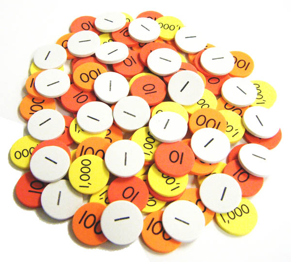Place Value Disks Class Set (1500 disks)