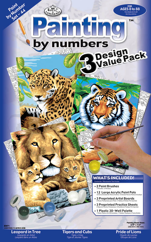Painting By Numbers - Junior Small Jungle Cats (3 Design Value Pack)