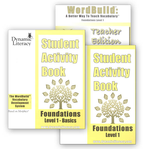 WordBuild Foundations Level 1 Combo: Teacher & Student Activity Books
