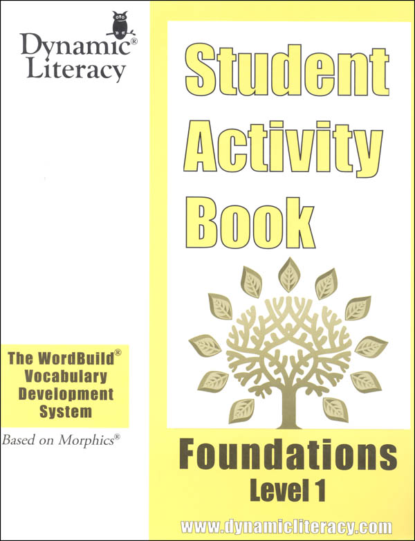 WordBuild Foundations Level 1 Student Activity Book