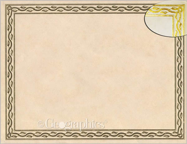 Serpentine Gold Foil Certificates (Package of 12)