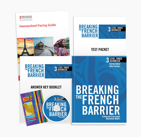 Breaking the French Barrier Level 3 (Advanced) Homeschool Package