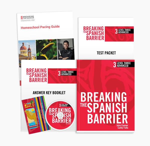 Breaking the Spanish Barrier Level 3 (Advanced) Homeschool Package