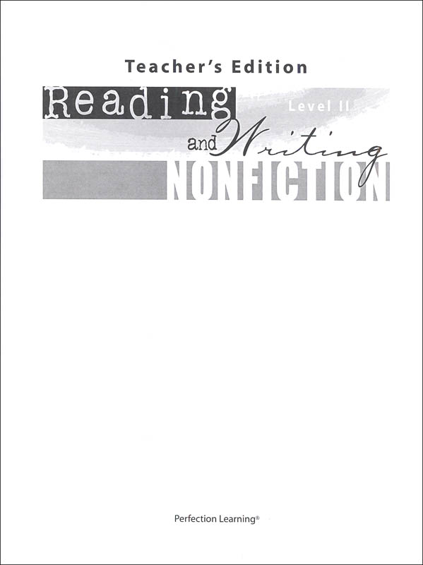 Reading and Writing Nonfiction Level II Teacher Guide