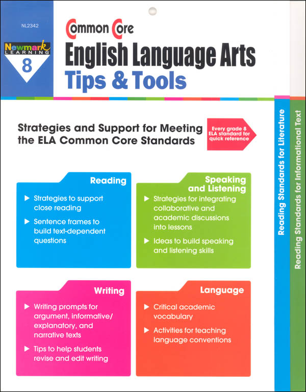 Common Core English Language Arts Tips & Tools Grade 8