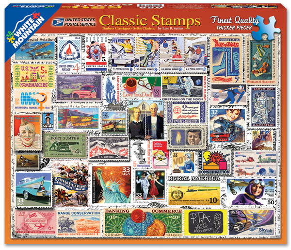 Classic Stamps Collage Jigsaw Puzzle (550 piece)