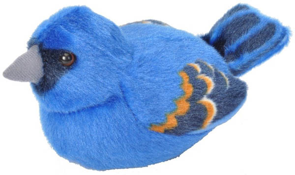 Audubon Bird: Blue Grosbeak Plush With Real Bird Call