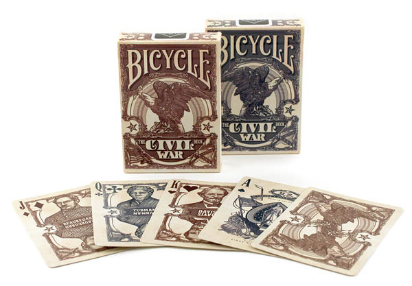 Bicycle Civil War Playing Cards (Assorted Colors)