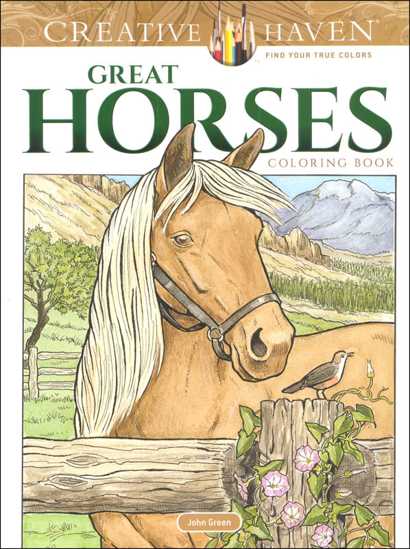 Great Horses Coloring Book (Creative Haven)