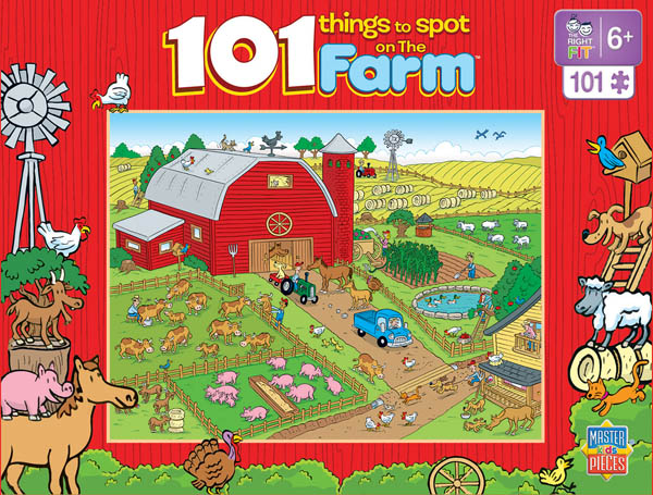 101 Things to Spot on the Farm (100pc Puzzle)