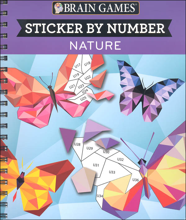 Brain Games Sticker by Numbers - Nature