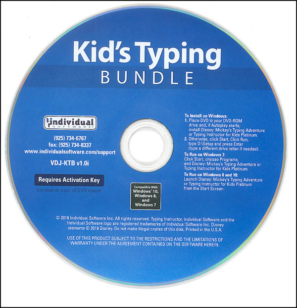 Kid's Typing Bundle: Mickey's Typing Adventure & Typing Instructor for Kids Platinum (Windows)