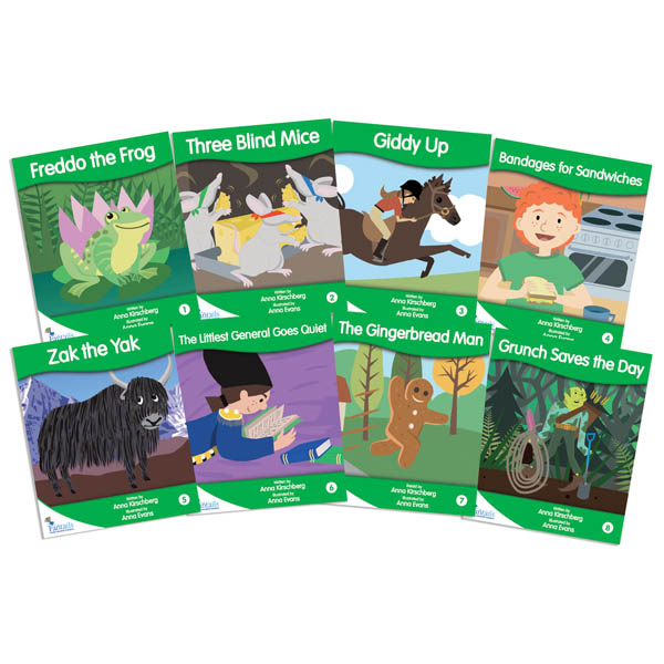 Fantail Readers: Fiction - Green (set of 8) Reading Level 12-14, Guided Reading Level F-I