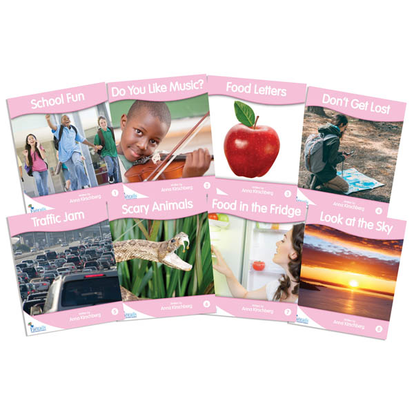 Fantail Readers: Non-Fiction - Pink (set of 8) Reading Level 1-2, Guided Reading Level A-B