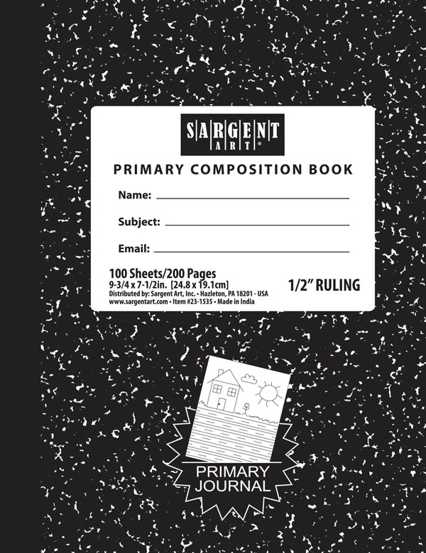Primary Ruled Composition Book - 100 sheets
