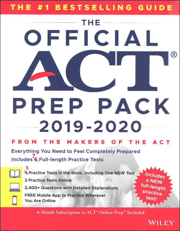 Official ACT Prep Pack 2019-2020 Edition with 7 Full Practice Tests (5 in Official ACT Prep Guide + 2 Online)