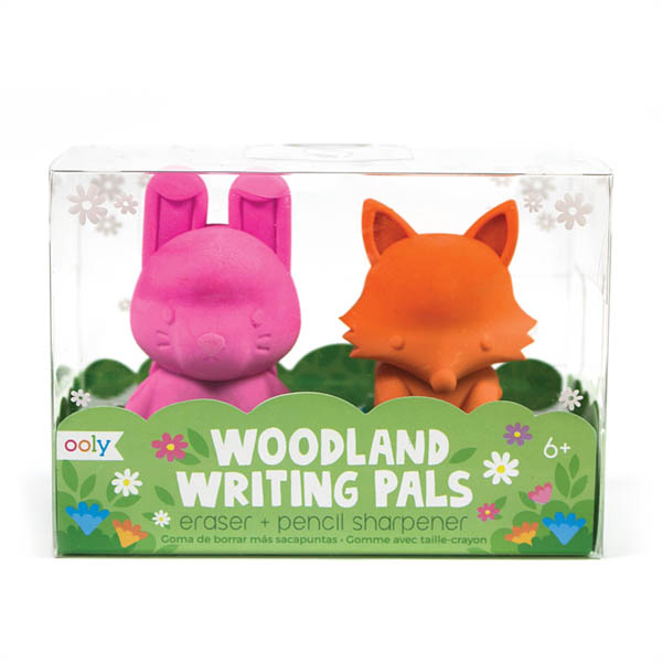 Woodlands Writing Pals Eraser & Sharpener - Set of 2