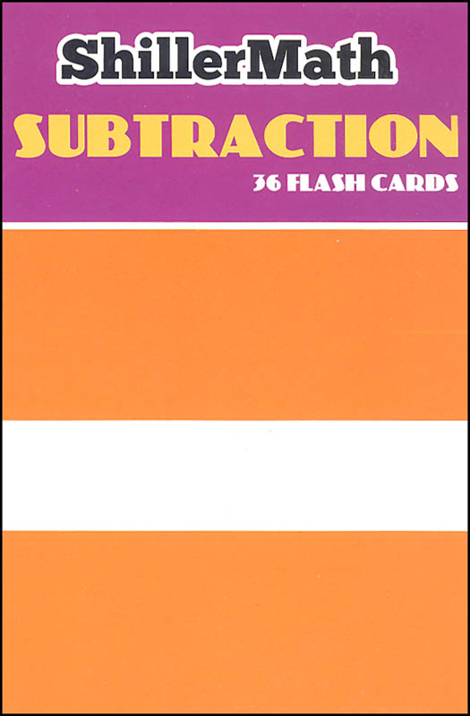 Montessori Flash Cards Subtraction