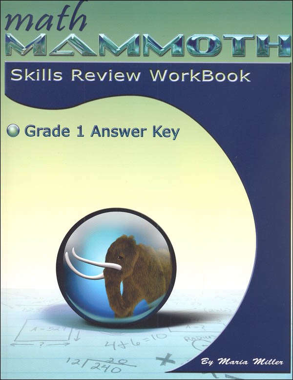 Math Mammoth Grade 1 Color Skills Review Workbook Answer Key