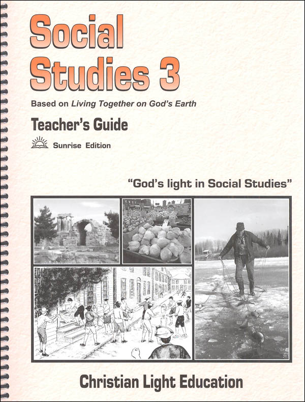 Social Studies 300 Teacher's Guide Sunrise Edition (with answers & maps)
