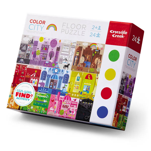 Color City Floor Puzzle (E/L Puzzles 24pc)