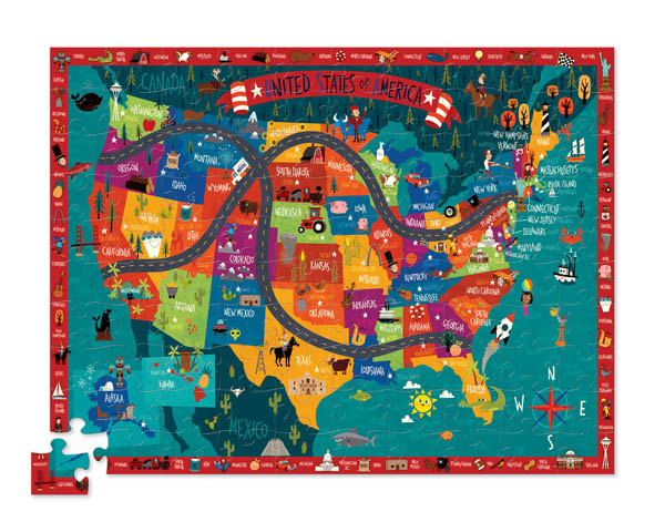 Discover America Learn + Play Puzzle (100pc)