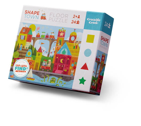 Shape Town Floor Puzzle (E/L Puzzles 24pc)