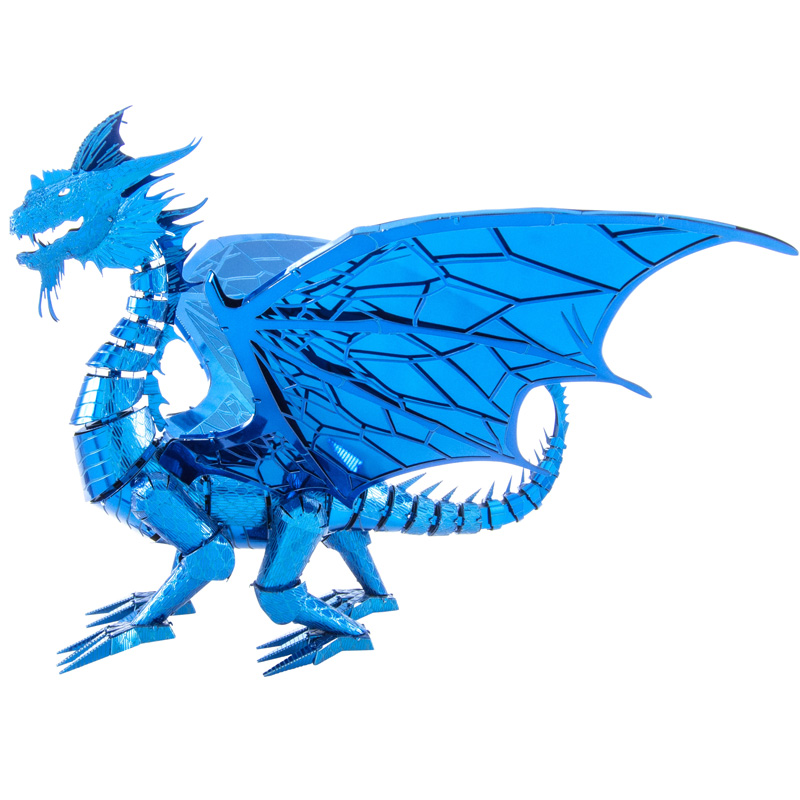 Blue Cobalt Dragon (ICONX 3D Model)