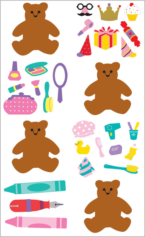 Dress Up Bears Stickers