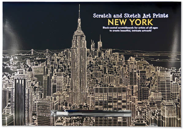 Scratch and Sketch Art Prints - New York