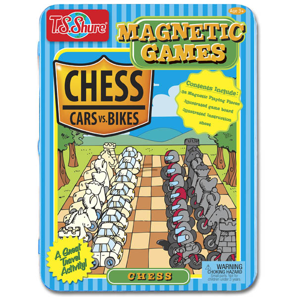 Chess Cars vs. Bikes - Magnetic Game Tin