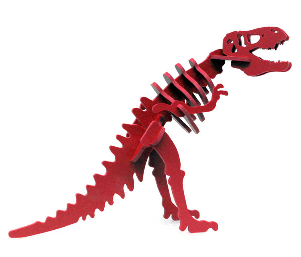 Larry the Tyrannosaurus Rex Mini 3D Puzzle - Red