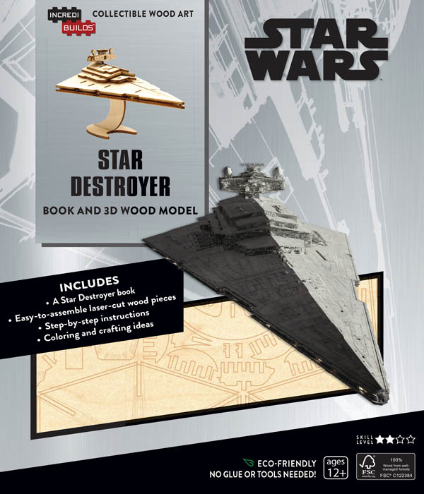 Star Wars Star Destroyer 3D Wood Model and Book
