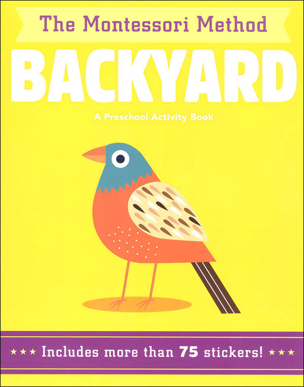Backyard Preschool Activity Book (Montessori)