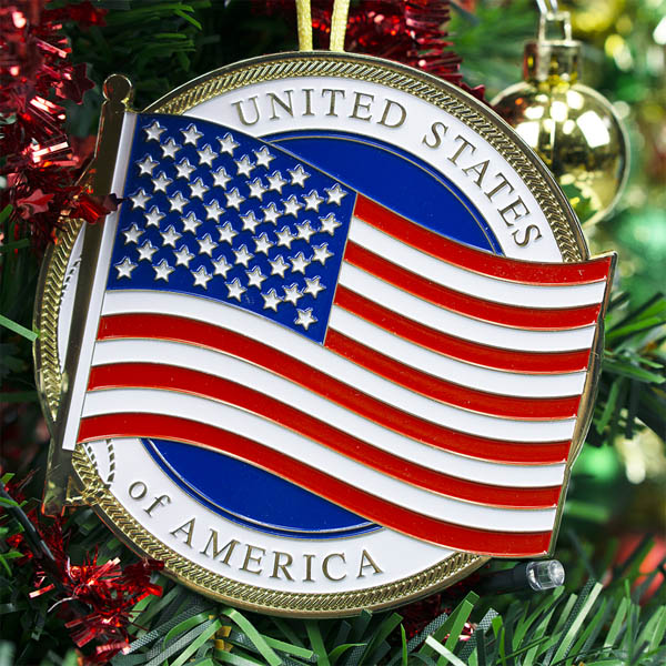 Heroes Series Ornament - US Flag