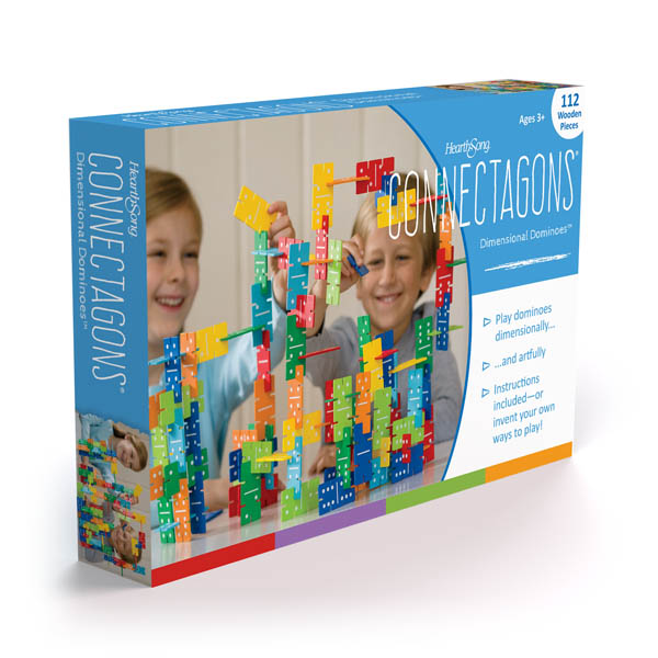 Rainbow Dimensional Domino Connectagons (112 Pieces)