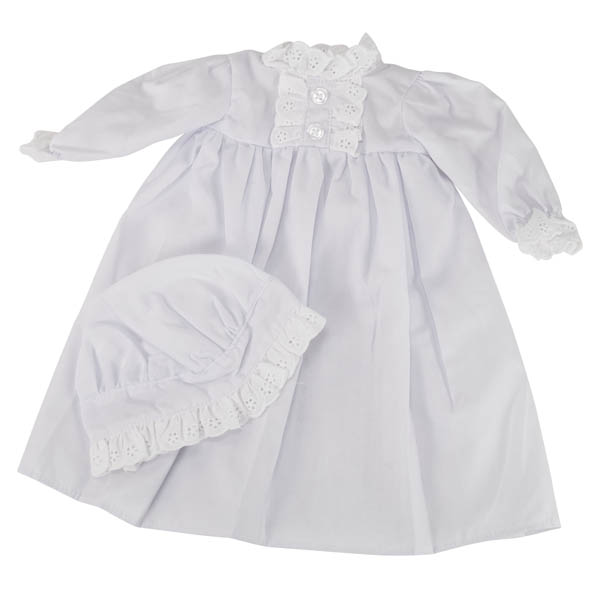 "Nightgown and Cap for 18"" Doll"