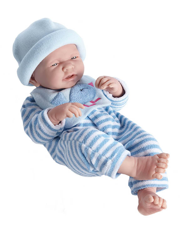 "La Newborn Realistic 17"" Vinyl Doll in Blue Bird Theme Outfit - Boy"