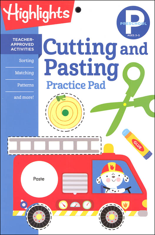 Preschool Cutting and Pasting Practice Pad