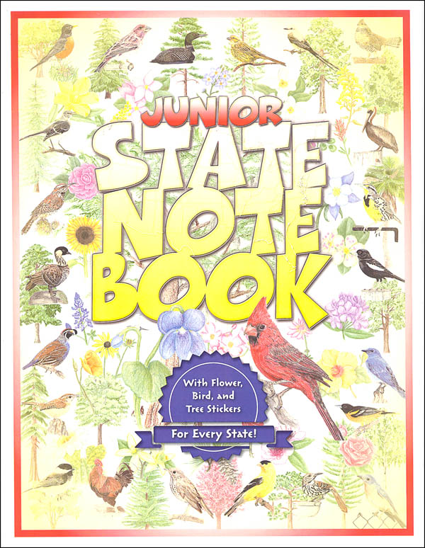 Jr. State Notebook with Stickers