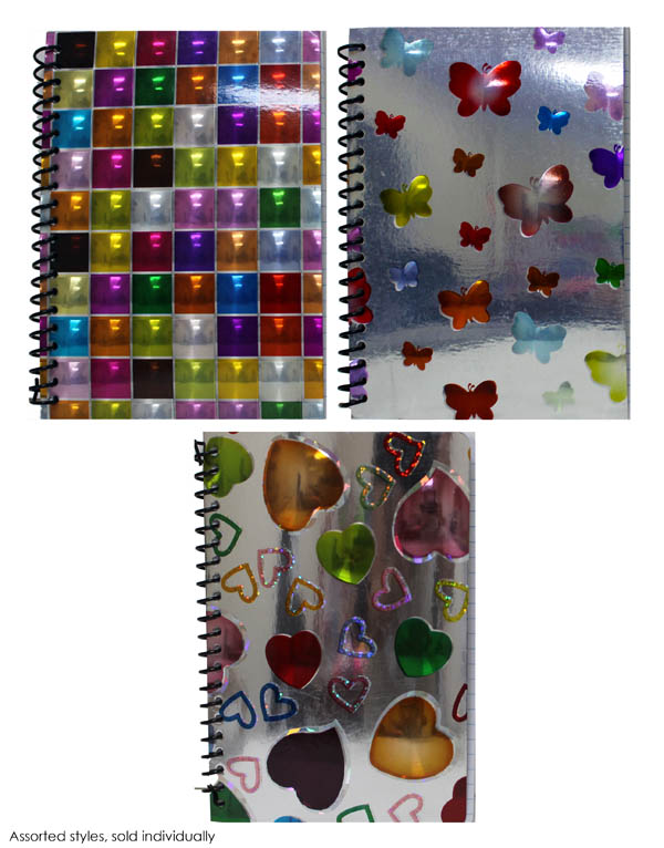 "3D Holographic Foil 5"" X 7"" Assignment Notebook"