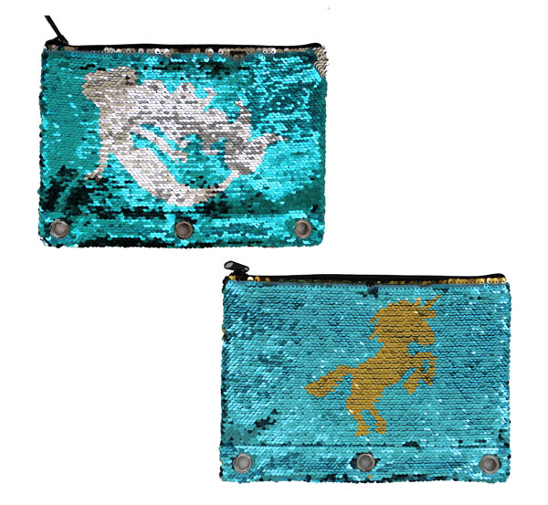 Sequin Color Change Binder Pencil Pouch