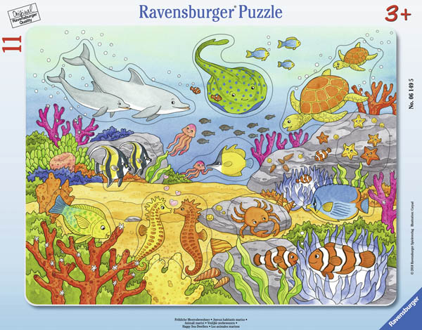 Happy Sea Dwellers Puzzle (11 piece)