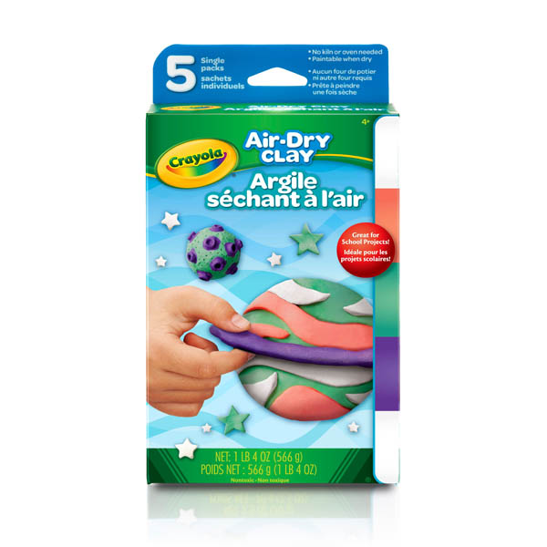 Crayola Air Dry Clay Bright Colors (5ct)