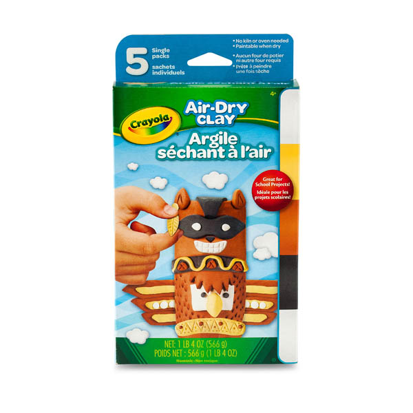 Crayola Air Dry Clay Neutral Colors (5ct)