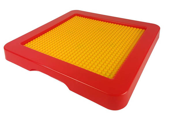 Block Lid for Cube Bin - Red