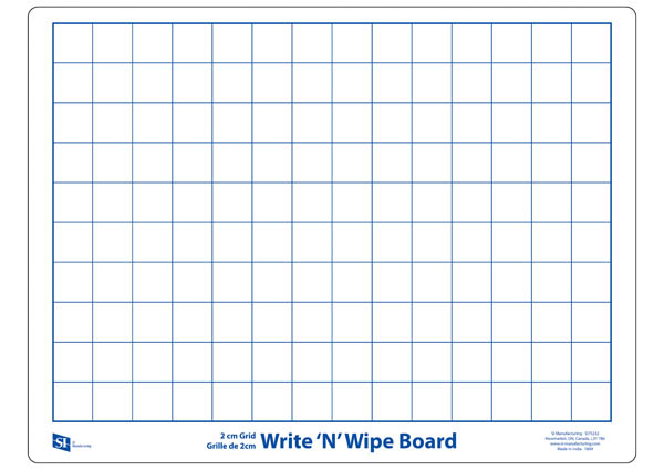 Write N Wipe 2cm Grid Board